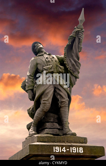 Memorial of the First World War, World War 1, at Auvergne, France, Europe - Stock Image