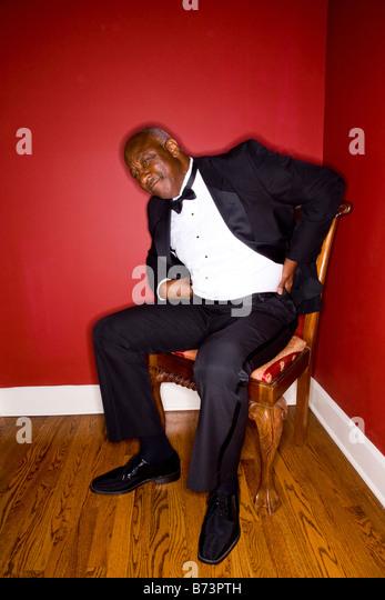 Senior African American man in formal attire - Stock Image