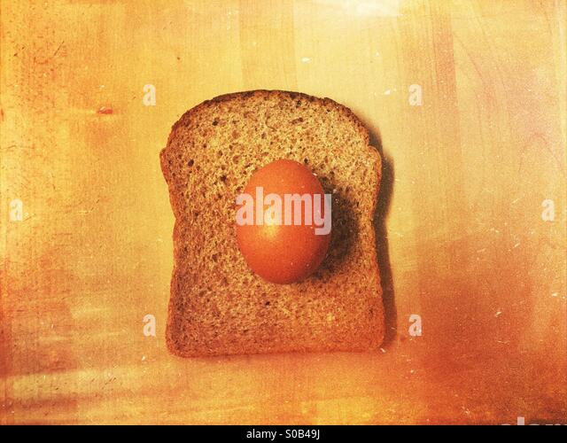 Egg on a toast - Stock Image
