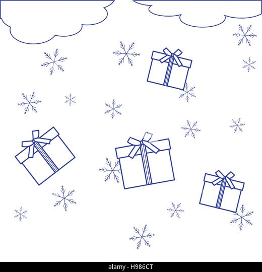 christmas new year linear illustration stock photos  u0026 christmas new year linear illustration