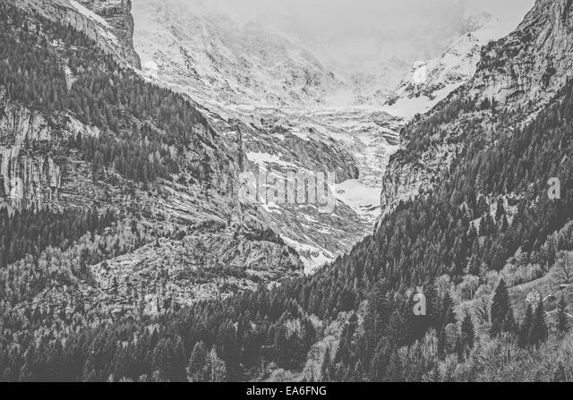 Switzerland, View of Grindelwald Alps - Stock Image