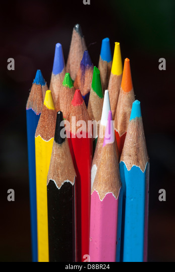 Color pencil - Stock Image