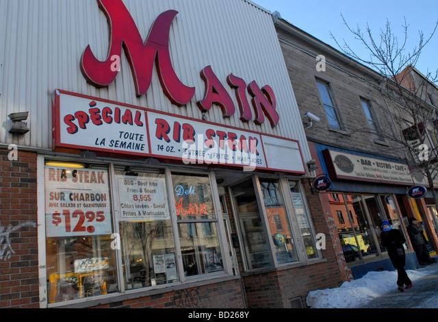 Saint Laurent boulevard Montreal Quebec Canada - Stock Image
