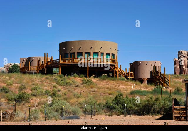 Desert holiday home Bluff Arizona USA - Stock-Bilder