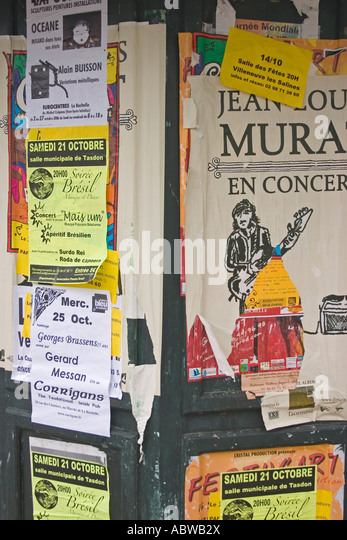 French advertising hoarding - Stock Image