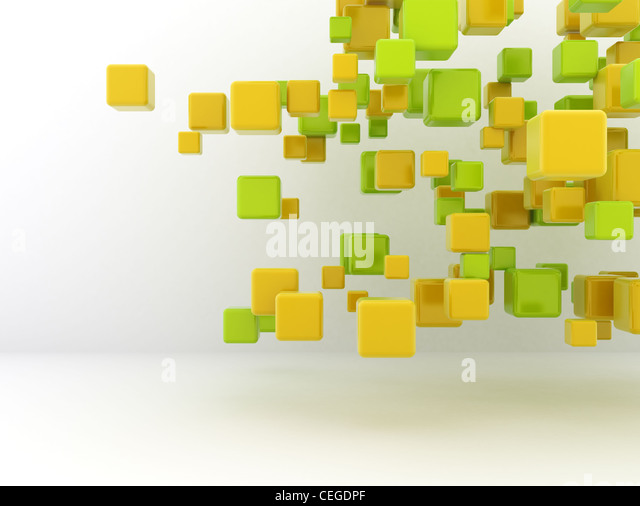 3d cubes flowing design background. - Stock Image