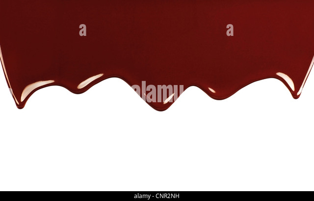 Dark sweet tasty chocolate border, liquid dropping brown background with text space - Stock-Bilder