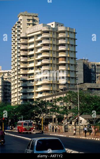 Indien, Mumbai, Appartmenthaus - Stock-Bilder