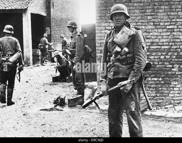 SS Troopers in France WWII - Stock-Bilder