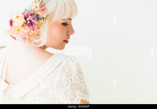 Portrait of bride - Stock Image