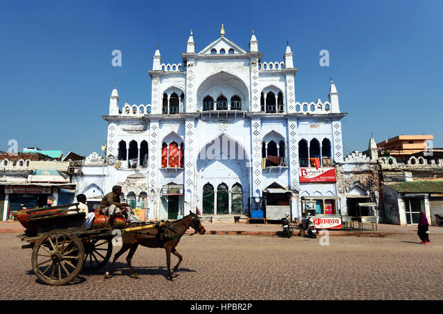 A horse cart in Lucknow. - Stock Image