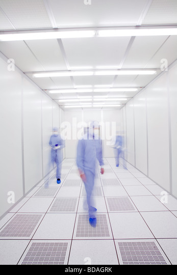 scientists in a laboratory environment - Stock Image