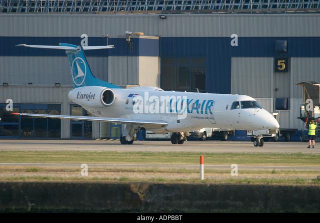 Luxair Embraer EMB-135LR (ERJ-135LR) - Stock Image
