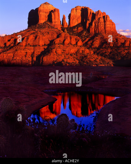 Cathedral Rock - Stock Image