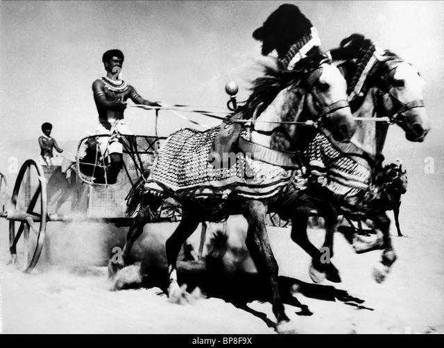 CHARIOT SCENE FARAON; PHARAOH (1966) - Stock Image