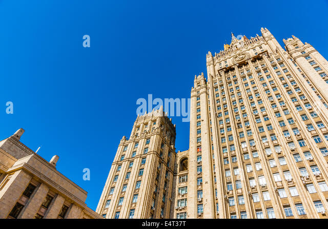 Main building of Ministry Of Foreign Affairs, Moscow, Russia - Stock Image