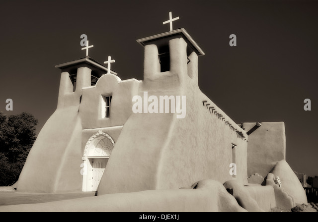 San Francisco de Asis Catholic Church. Taos New Mexico - Stock-Bilder