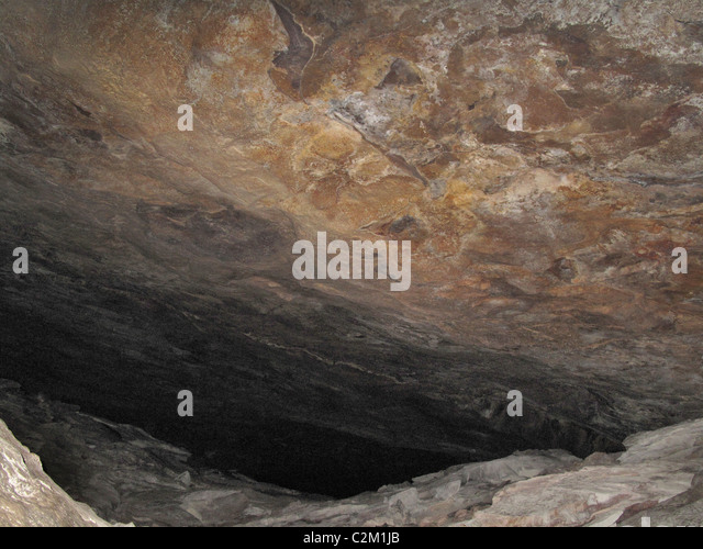 Interior of cave, Chapada Diamantina National Park, Bahia State, Brazil - Stock Image