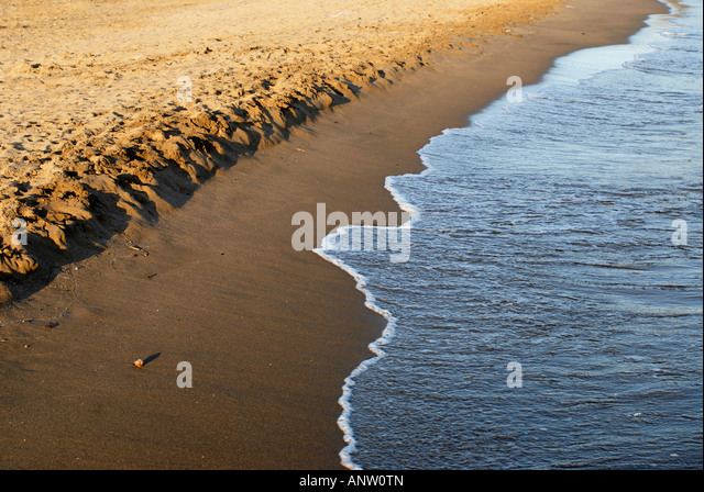 Beach Capalbio Tuscany Italy - Stock Image