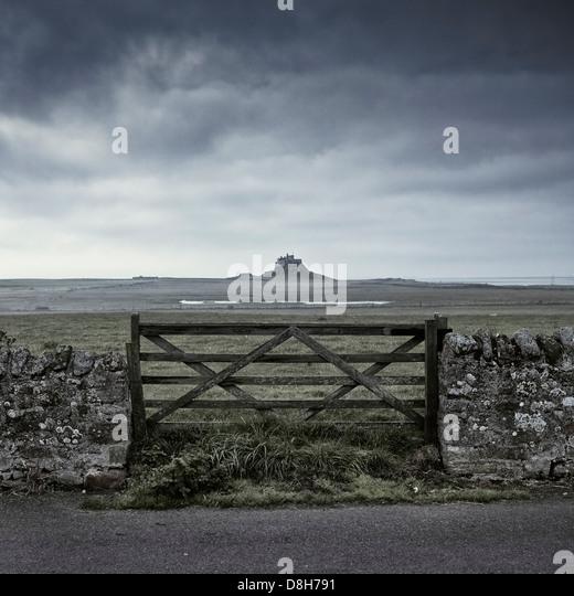 Lindisfarne Castle, Holy Island, Northumberland, England - Stock Image