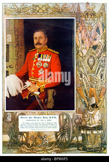 General Sir Douglas Haig, 1914 portrait of the scion of the whisky family who went on to command the British Army - Stock Image