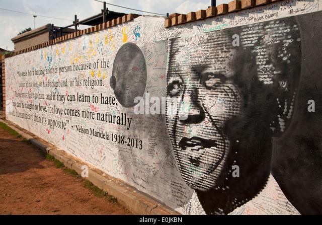 Memorial to Nelson Mandela, Soweto, Johannesburg, Gauteng, South Africa, Africa - Stock Image
