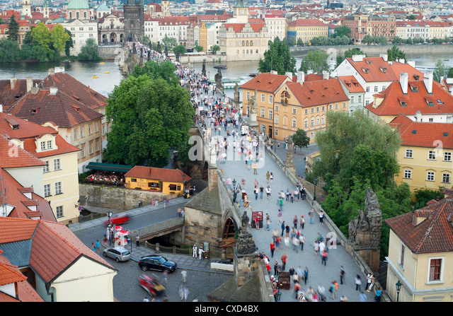 Charles Bridge, UNESCO World Heritage Site, Prague, Czech Republic, Europe - Stock-Bilder