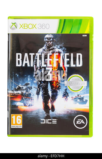 The Microsoft XBOX 360 Battlefield 3 game on a white background - Stock Image