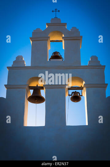 Mission San Juan Capistrano in San Antonio, Texas - Stock Image