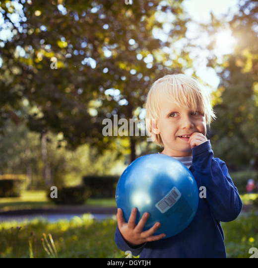 portrait of cute little boy - Stock Image