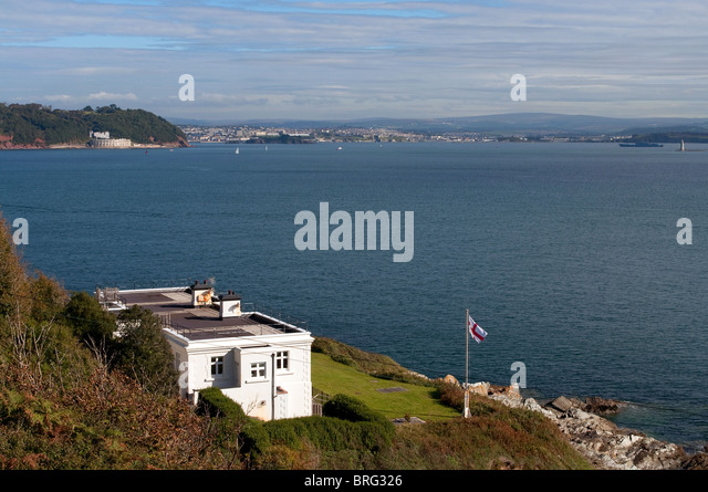 penlee point lookout post on the edge of plymouth sound, south east cornwall, uk - Stock Image