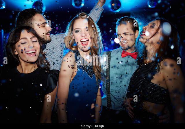 Ecstatic dancer - Stock Image