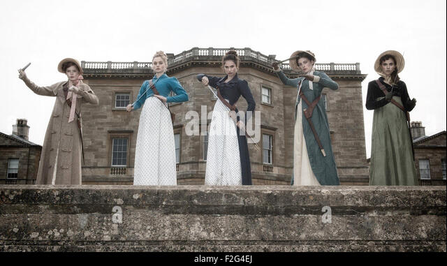 PRIDE AND PREJUDICE AND ZOMBIES 2016 Screen Gems film. - Stock Image