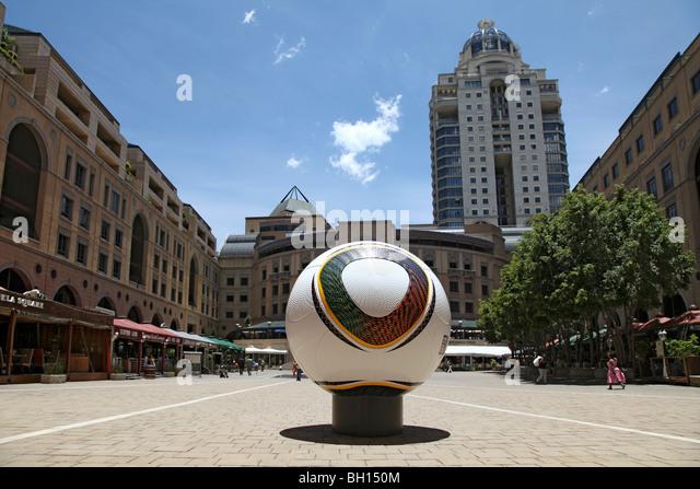 Nelson Mandela Plaza, Johannesburg, South Africa - Stock Image