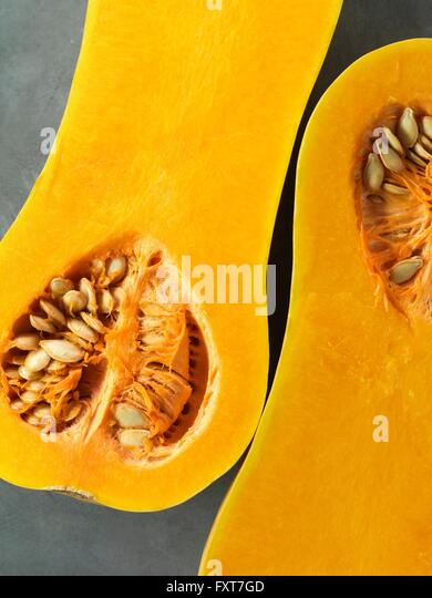 Butternut squash, halved - Stock Image