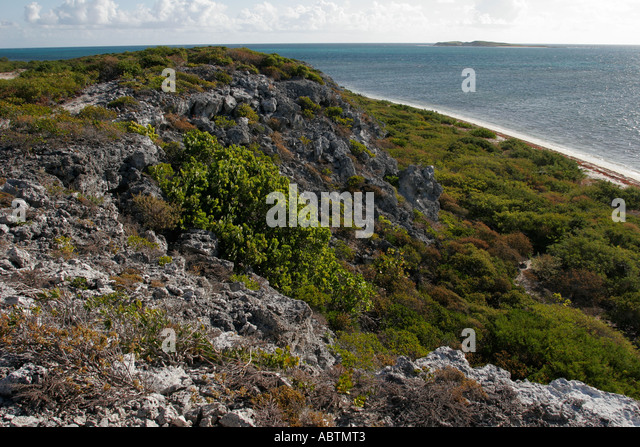 Grand Turk Atlantic Ocean Hawknest Plantation Gun Hill dune buggy excursion tour - Stock Image