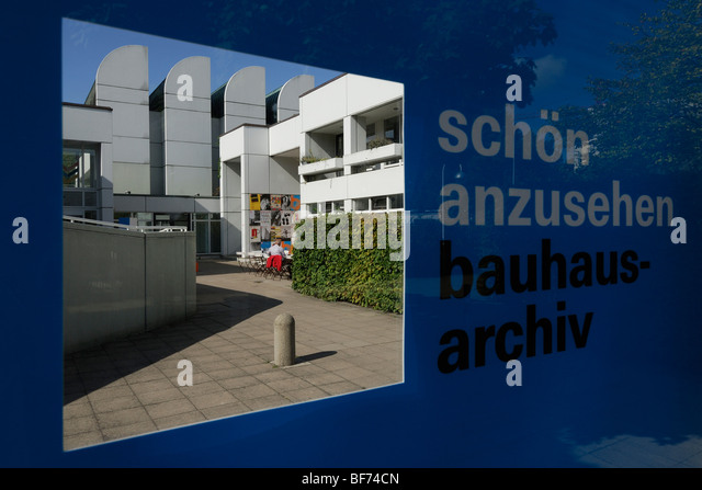 Berlin. Germany. Bauhaus Archive & Design Museum designed by Walter Gropius 1976-79. - Stock Image