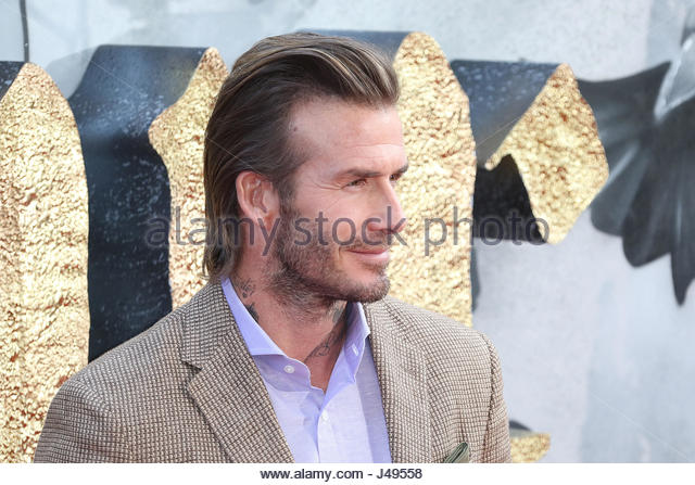 London, UK. 10th May, 2017. David Beckham attends King Arthur: Legend of the Sword European premiere in London, - Stock Image