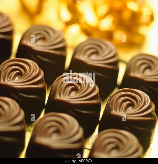 Close-up of chocolates - Stock-Bilder