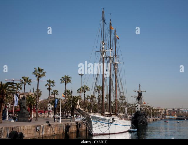 Port Vell, Barcelona, Catalonia, Spain, Europe - Stock Image