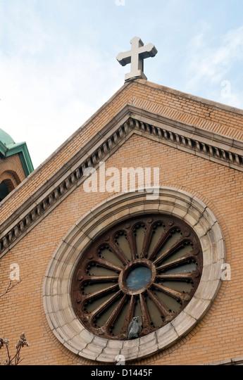 Our Lady of Vilnius Roman Catholic Church - Stock-Bilder