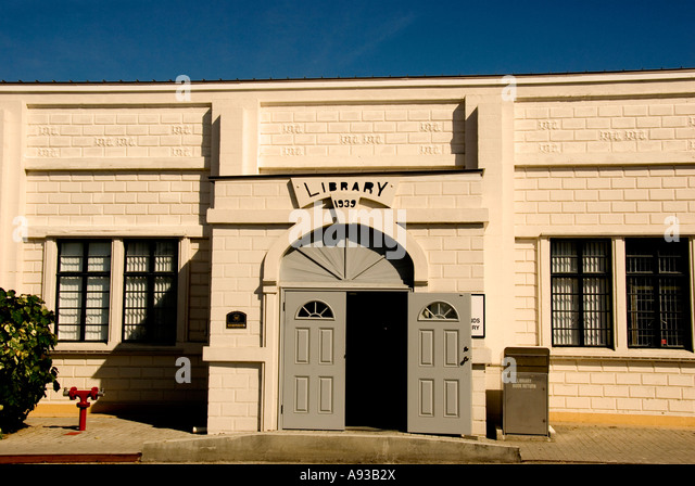Grand Cayman George Town  old town library building historic landmark building - Stock Image