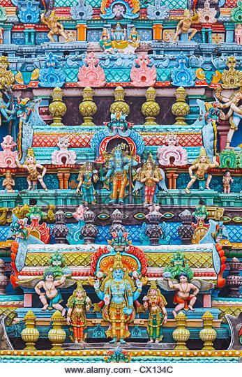 Relief at Sri Ranganathaswamy Temple, Tiruchirappalli, Tamil Nadu, India - Stock-Bilder