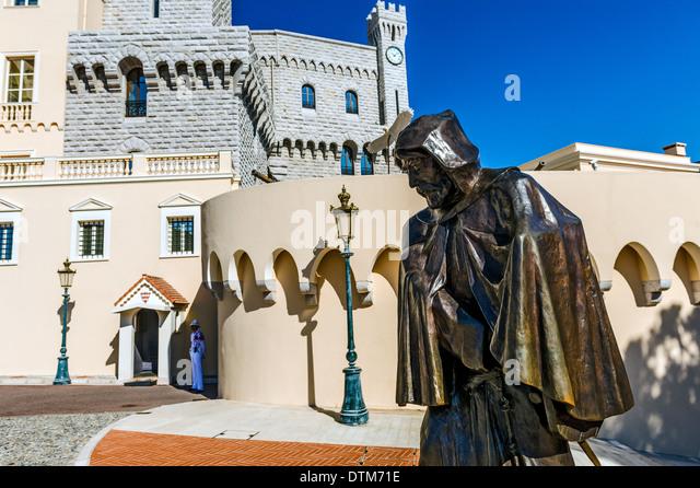 Europe, France, Principality of Monaco, Monte Carlo. François Grimaldi said 'the wily' Malizia in Italian. - Stock Image