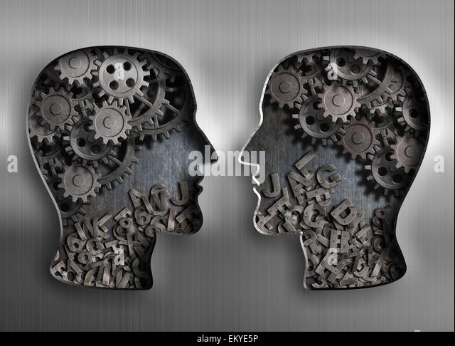 concept of communication, dialog, information and knowledge exchange - Stock Image