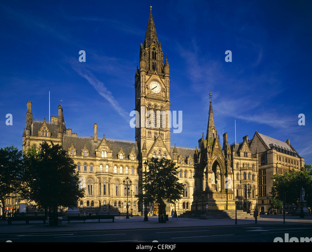 A view to Manchester Town Hall. - Stock Image