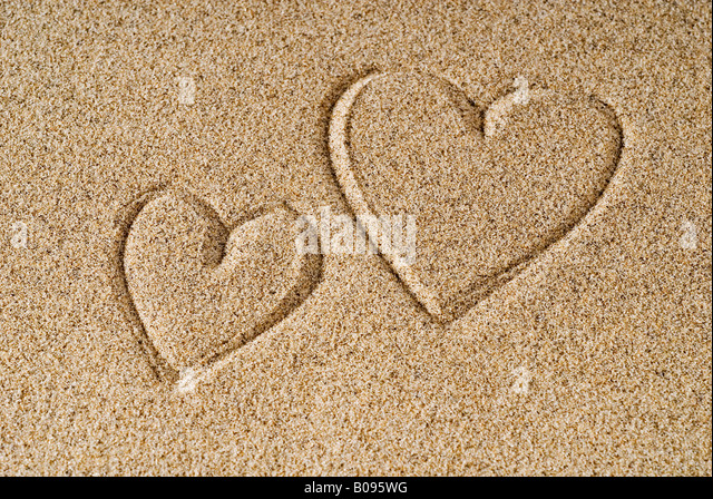 Heart In Sand Photo Stock Photos & Heart In Sand Photo ...