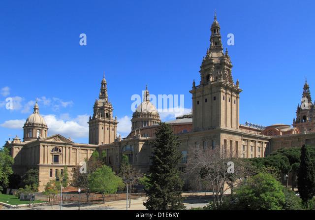 Museum of Catalan Art, National Palace, Montjuic, Barcelona, Catalunya, Spain, Europe - Stock Image