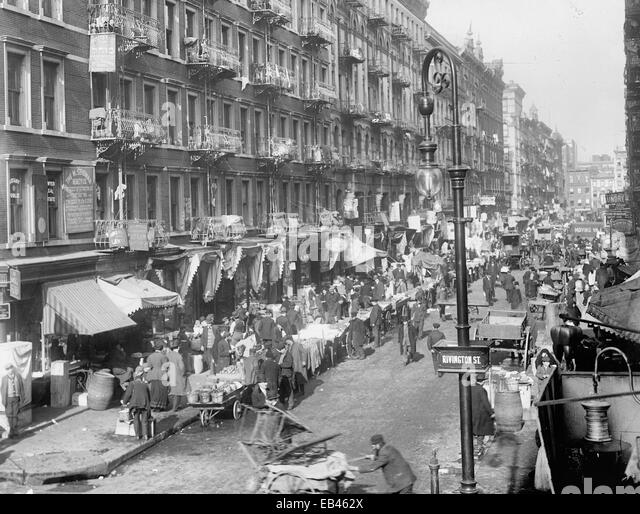 The Ghetto, New York, N.Y., circa 1909 - Stock Image
