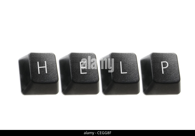 Help Concept with Computer Keys - Stock Image